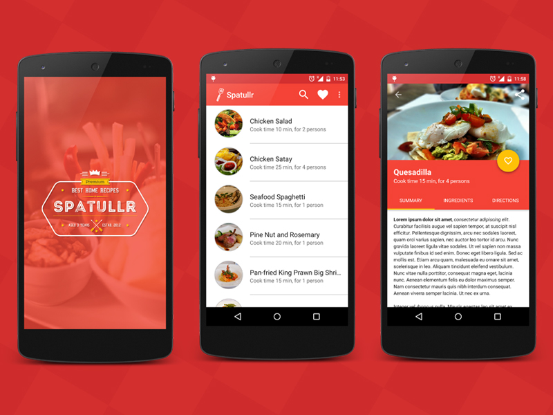 spatullr recipes app for android ndash materialup