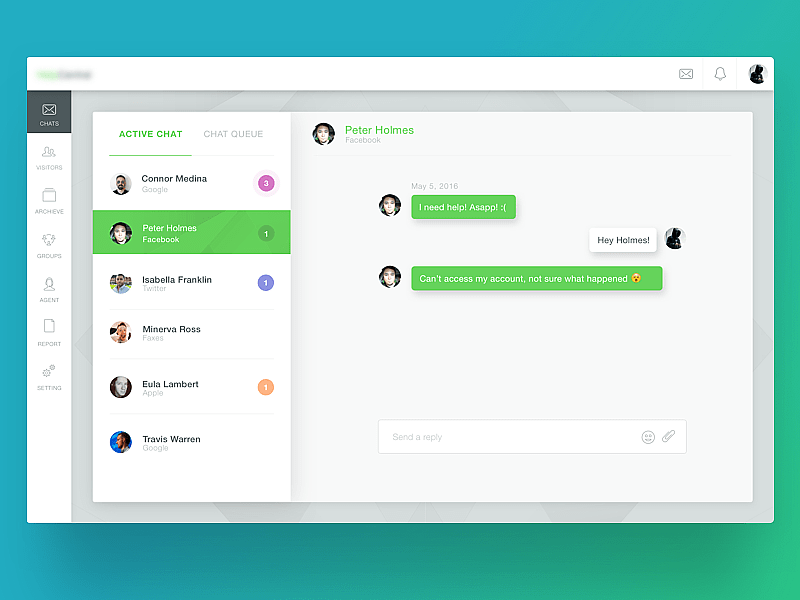 Chat UI Uplabs