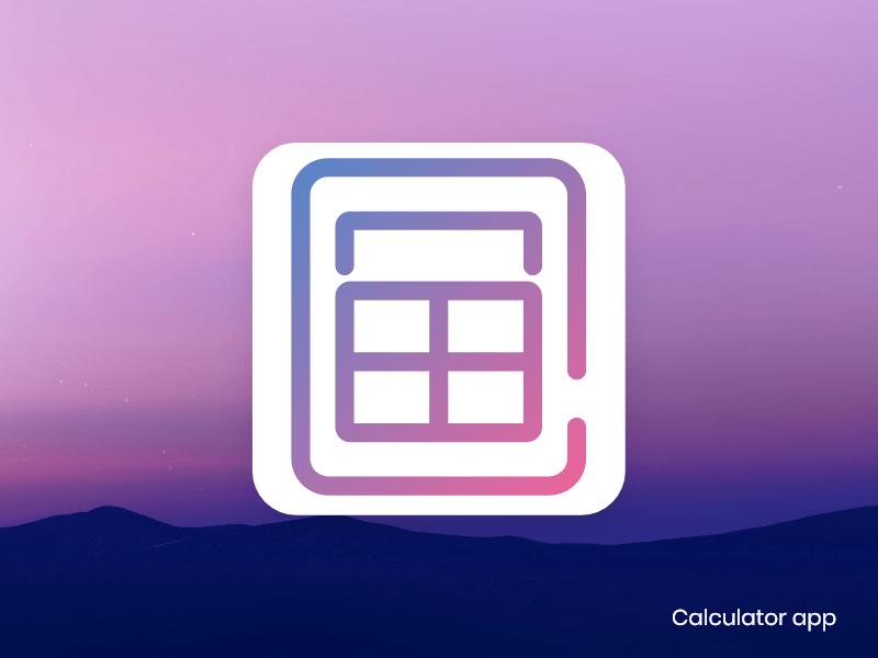 calculator app icon daily