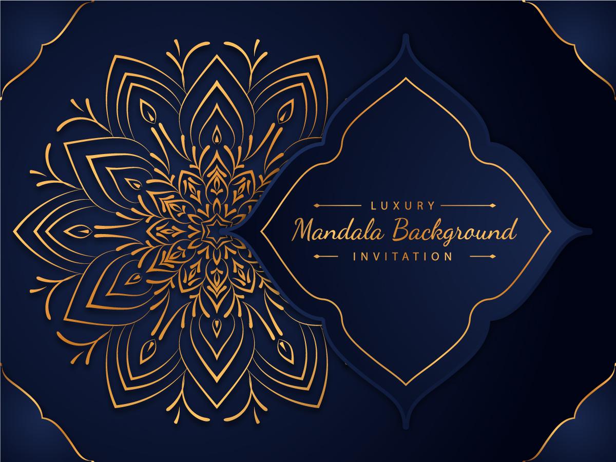 luxury mandala background golden
