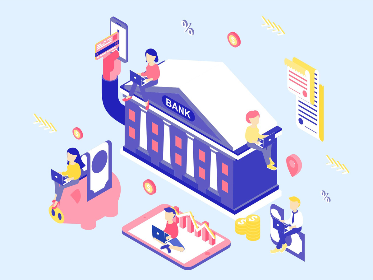 Online Banking Isometric Illustration Search By Muzli