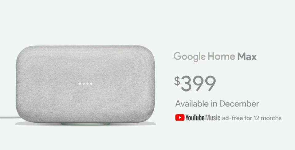 Google Homeファミリーに音質重視のプレミアムモデル「Google Home Max」が登場!値段は399ドル。 | ギズモード ...