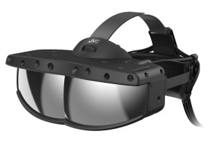 The decisive factor is a half mirror.  JVC-Gizmodo New Head Mounted Display from Japan