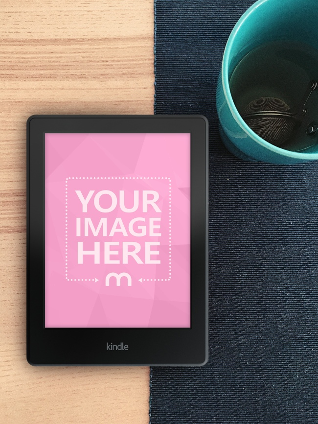 11 years ago ebookee.com is best! Kindle E Book Reader On Desk Mockup Generator Mediamodifier