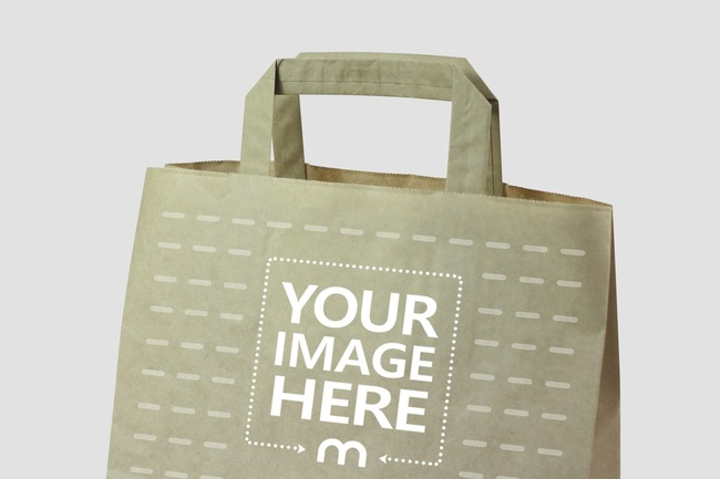 The best free psd packaging mockups we've found from the amazing sources. Closeup Brown Paper Bag Mockup Mediamodifier