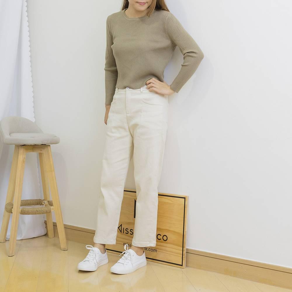 扯布棉質感微鬆彈力褲-3色 - 文青女裝