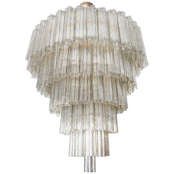 Foglia grande in vetro soffiato, pezzi di ricambio murano, elemento decorativo utilizzato nell'allestimento e nel restauro di lampade e lampadari in stile veneziano. Lampadario In Vetro Di Murano Con Tronchi Color Fume E Pezzi Di R Su Misshobby