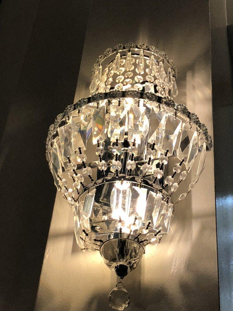 Foglia grande in vetro soffiato, pezzi di ricambio murano, elemento decorativo utilizzato nell'allestimento e nel restauro di lampade e lampadari in stile veneziano. Gocce Rosette Catene Ciondoli O Cristalli Pendenti Pezzi Di Ri Su Misshobby