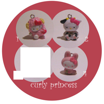 1pz x lotto HELLO KITTY frutta  animali ciondoli