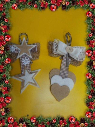 Addobbi natalizi feltro  Feste  Natale  di CREAZIONI CATIA  su MissHobby