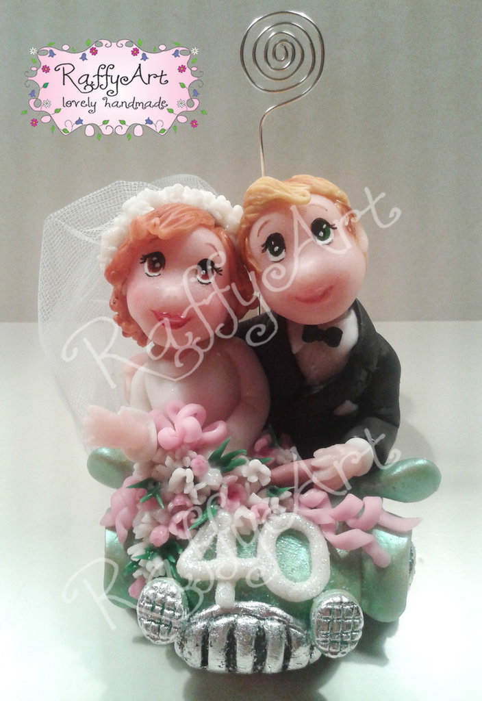 Cake topper per 40 anni di matrimonio Coppia smeraldo
