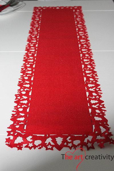 Runner Renna rossa  Feste  Natale  di The Art