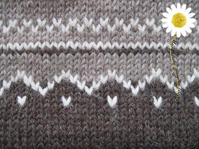Sacco nanna in pura lana ecologica con lavorazione jacquard  fatto  su MissHobby
