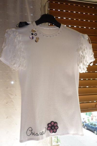 Tshirt gioiello Angel personalizzata con nome ricamato  Donna  A  su MissHobby