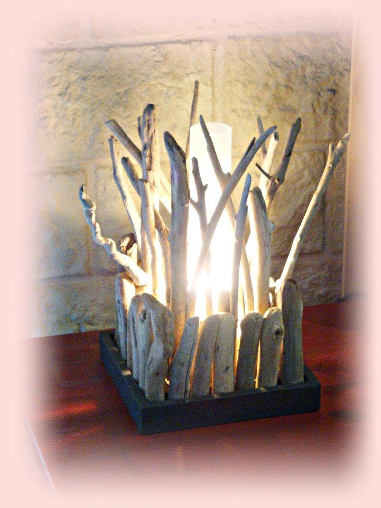 coastal design living room set diy buisson lampada da tavolo con legni di mare - per la casa ...