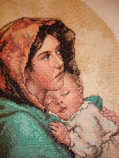 Madonna del riposo o Madonna con bambino  su MissHobby
