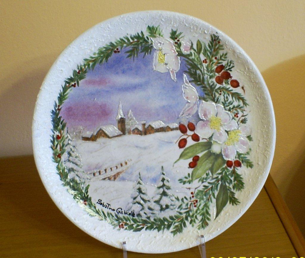piatto ceramica natalizio  Per la casa e per te  Produzioni artis  su MissHobby