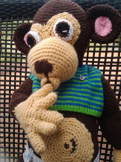Scimmia beb amigurumi  Per la casa e per te  Bambole e