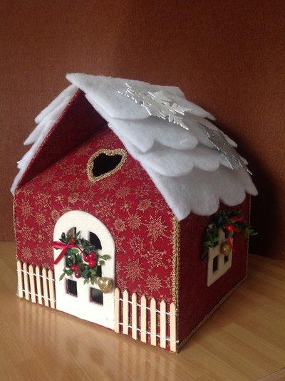 CASETTA SCATOLA PORTAPANETTONE NATALE  Feste  Natale  di Rosy  su MissHobby