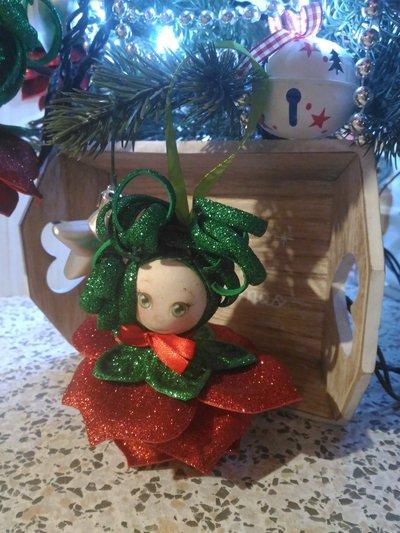 Decorazioni albero fiori rossi in gomma crepla o eva Natale  Fes  su MissHobby