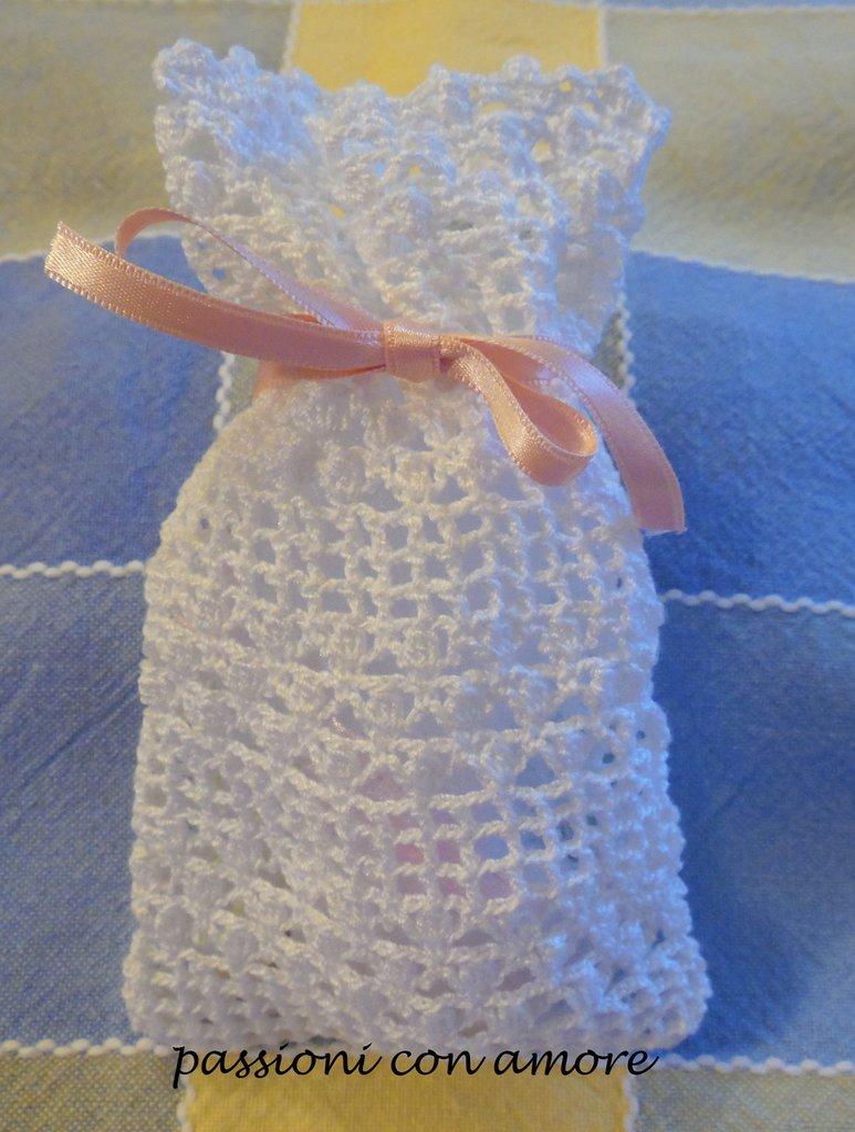 Bomboniere All Uncinetto Per Matrimonio Sacchetto Bomboniera All