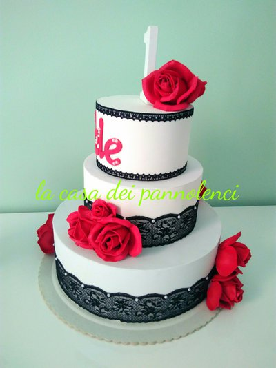 Torta in gomma crepla da esposizione  Cake design  Cake