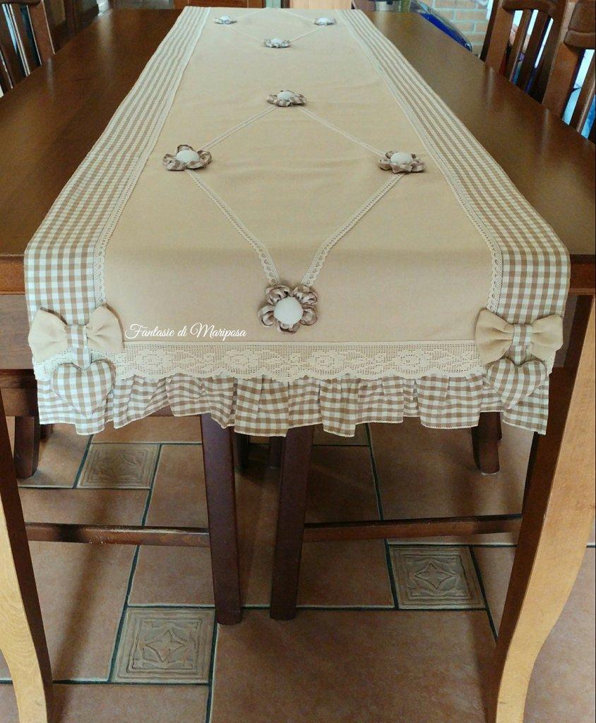 Runner tavolo country chic  Per la casa e per te  Cucina  di Fan  su MissHobby