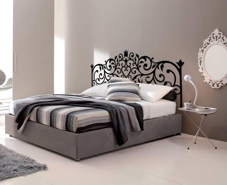 Testata letto adesiva disegno ferro battuto  Per la casa