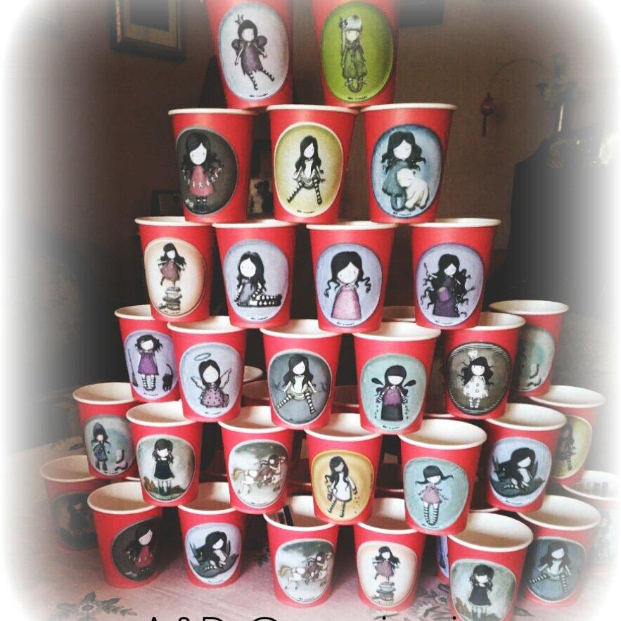 Gorjuss bicchieri compleanno  Feste  Decorazioni  di Aedcreazioni  su MissHobby