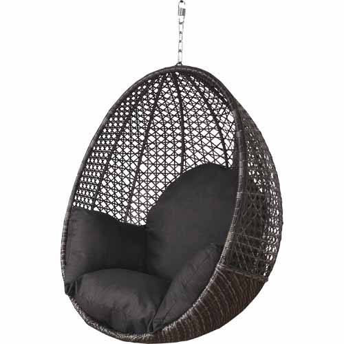 hanging chair mitre 10 contemporary wingback nouveau egg swing seats and chairs h 1200mm w 900mm d 720mm charcoal