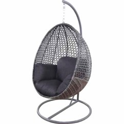 Hanging Chair Mitre 10 Circular Lounge Nouveau Egg With Base Swing Seats And Chairs Contempo H 1905mm W 1000mm D Charcoal