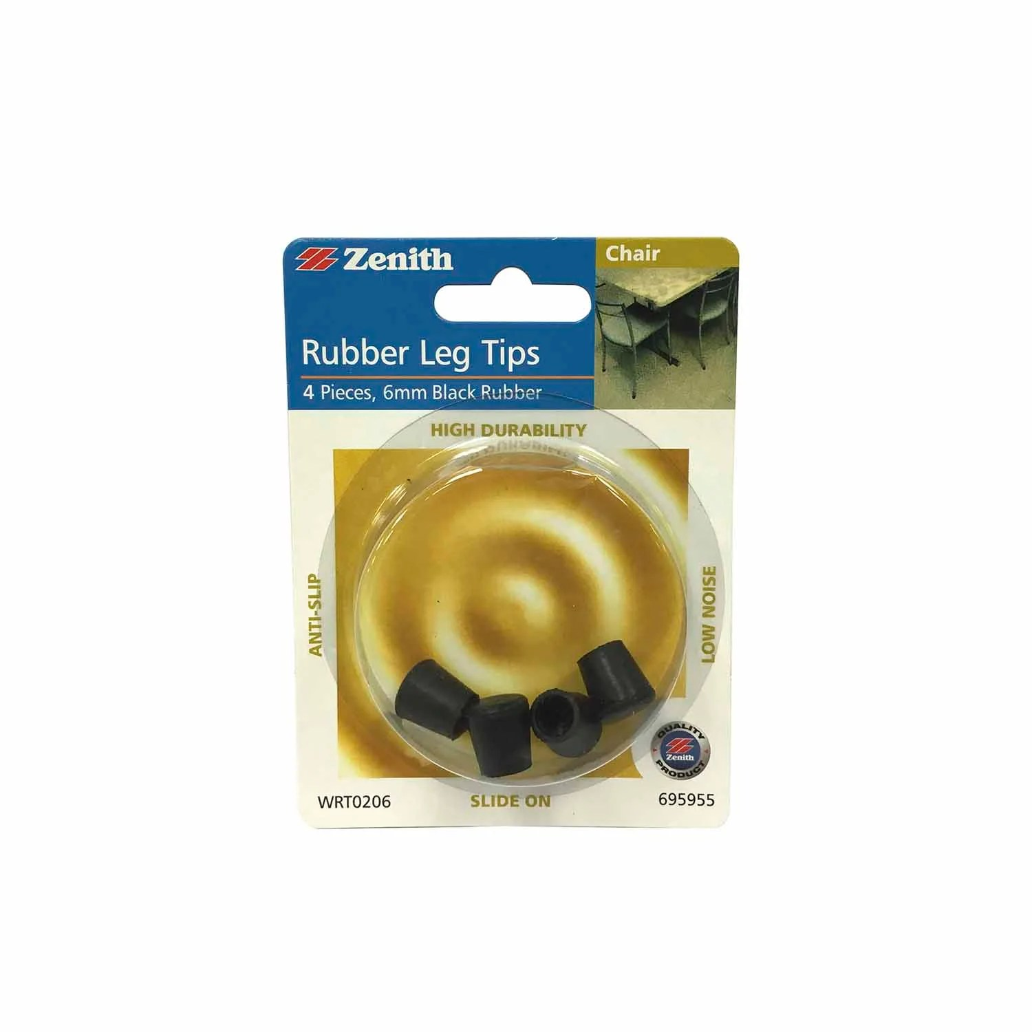 Chair Leg Tips Chair Leg Tips Rubber 6mm Black
