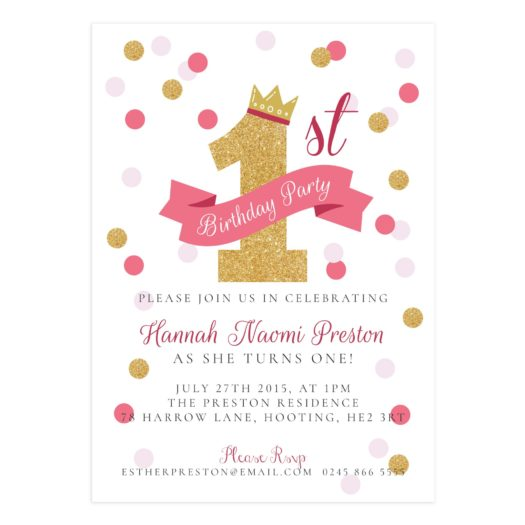 First Birthday Invitation Template For