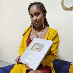 Actress and content creator Tabitha Gatwiri awarded by YouTube