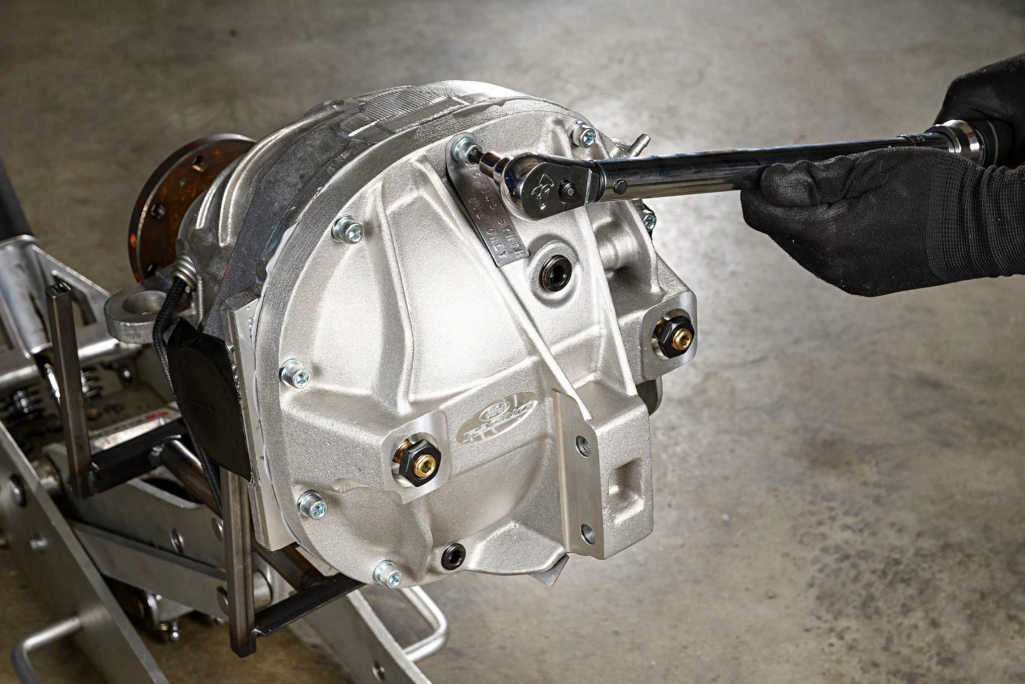 medium resolution of 001 mustang cobra differential cover girdle torque