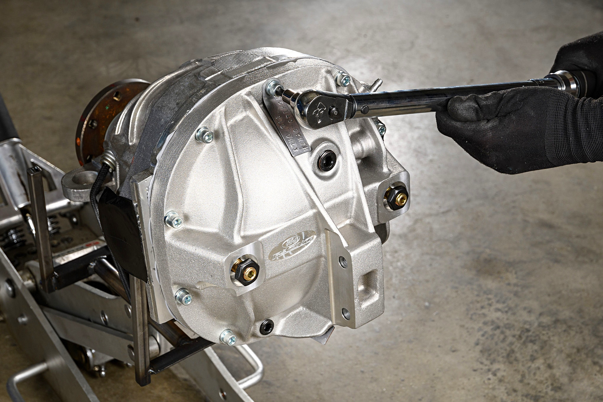 hight resolution of 001 mustang cobra differential cover girdle torque