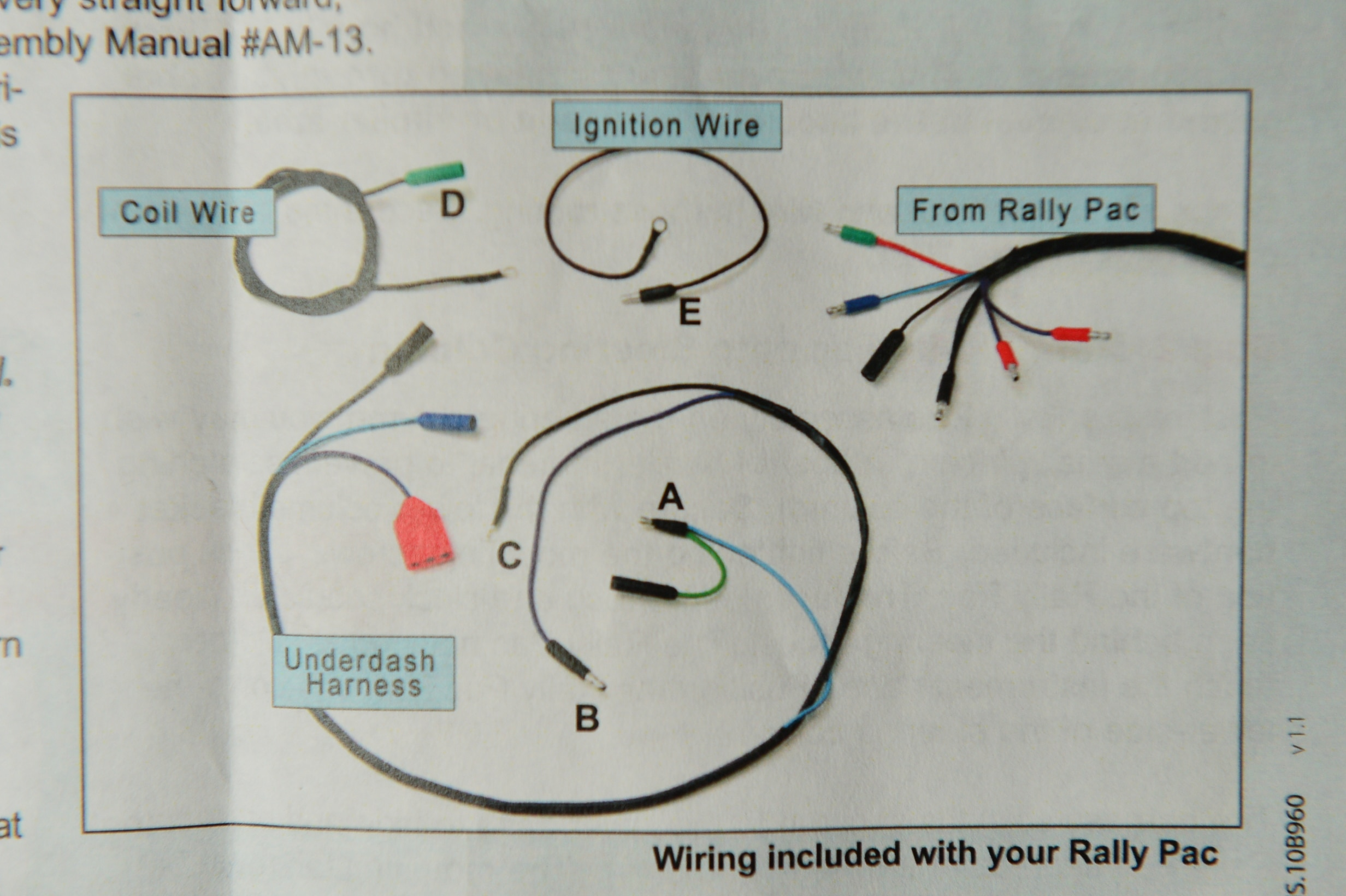 small resolution of 1966 mustang rally pac wiring diagram