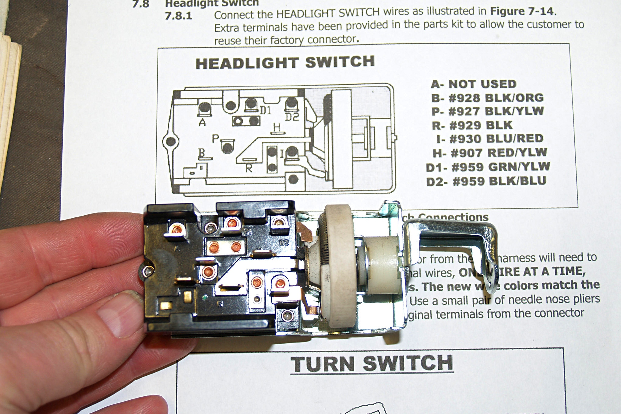 electrical gremlins and more vintage mustang tech questions and answers headlight switch wiring pigtail kit includes 1 headlight switch [ 2039 x 1360 Pixel ]