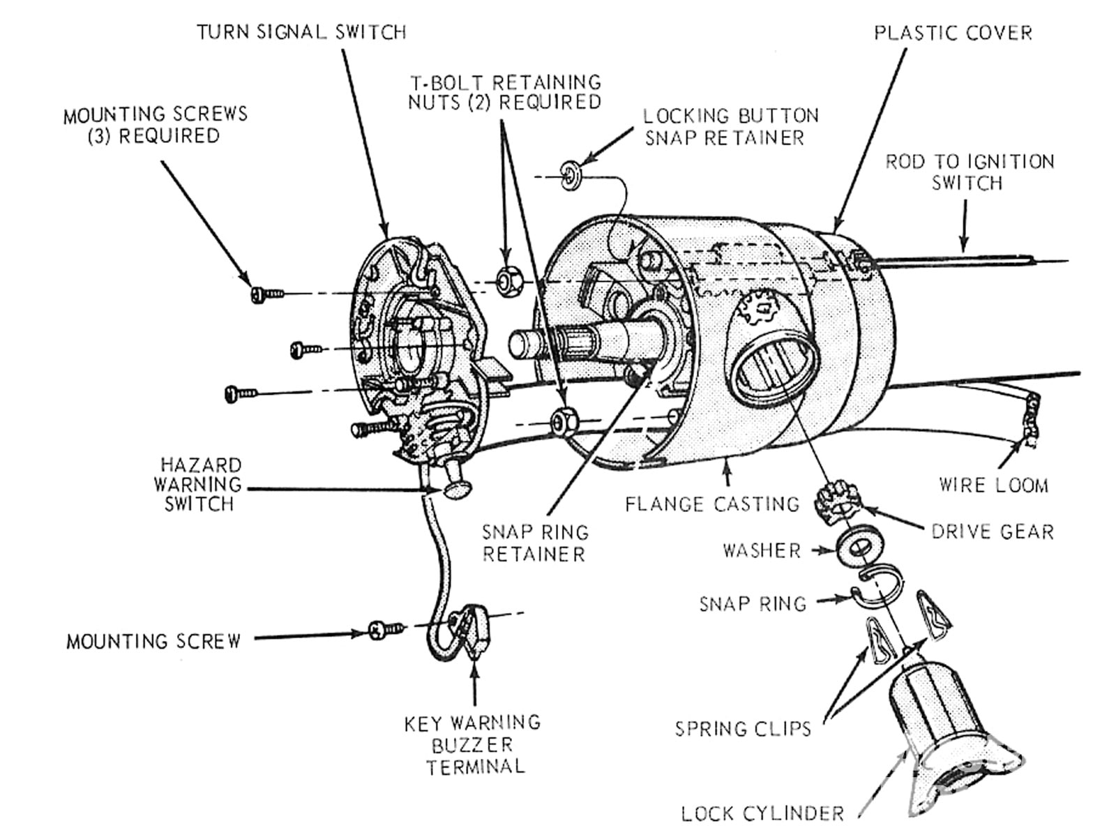small resolution of mump 1012 03 ford mustang locking steering columns locking steering column diagram