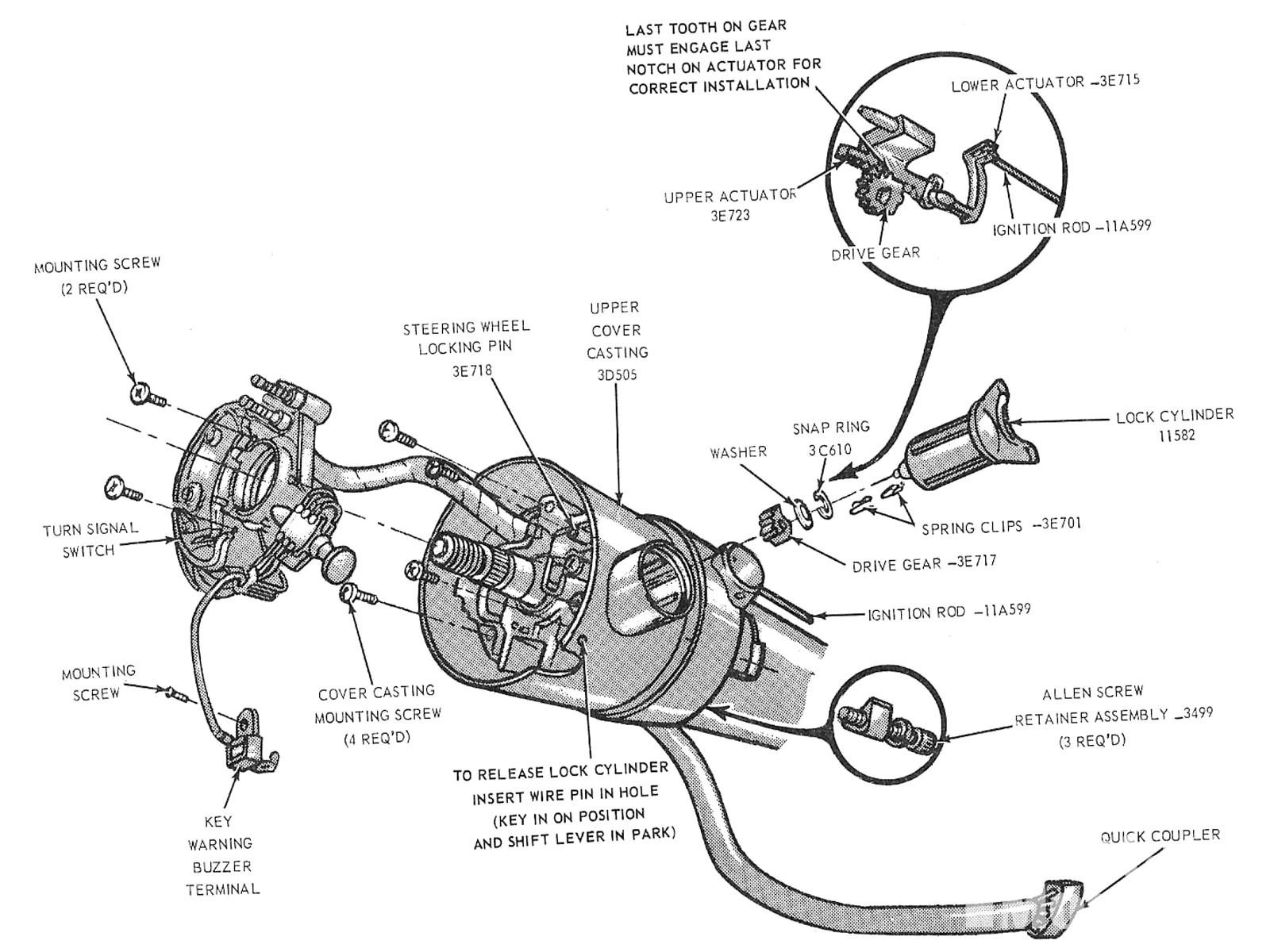 small resolution of mump 1012 04 ford mustang locking steering columns locking tilt column diagram
