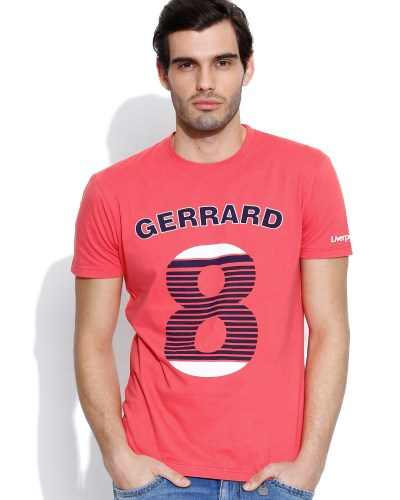 Liverpool FC Coral Red Printed T-shirt