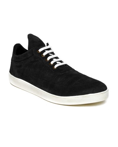 Roadster Men Black Suede Casual Shoes