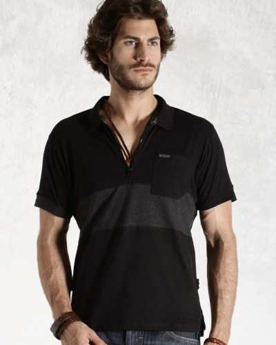 Roadster Black Polo T-shirt