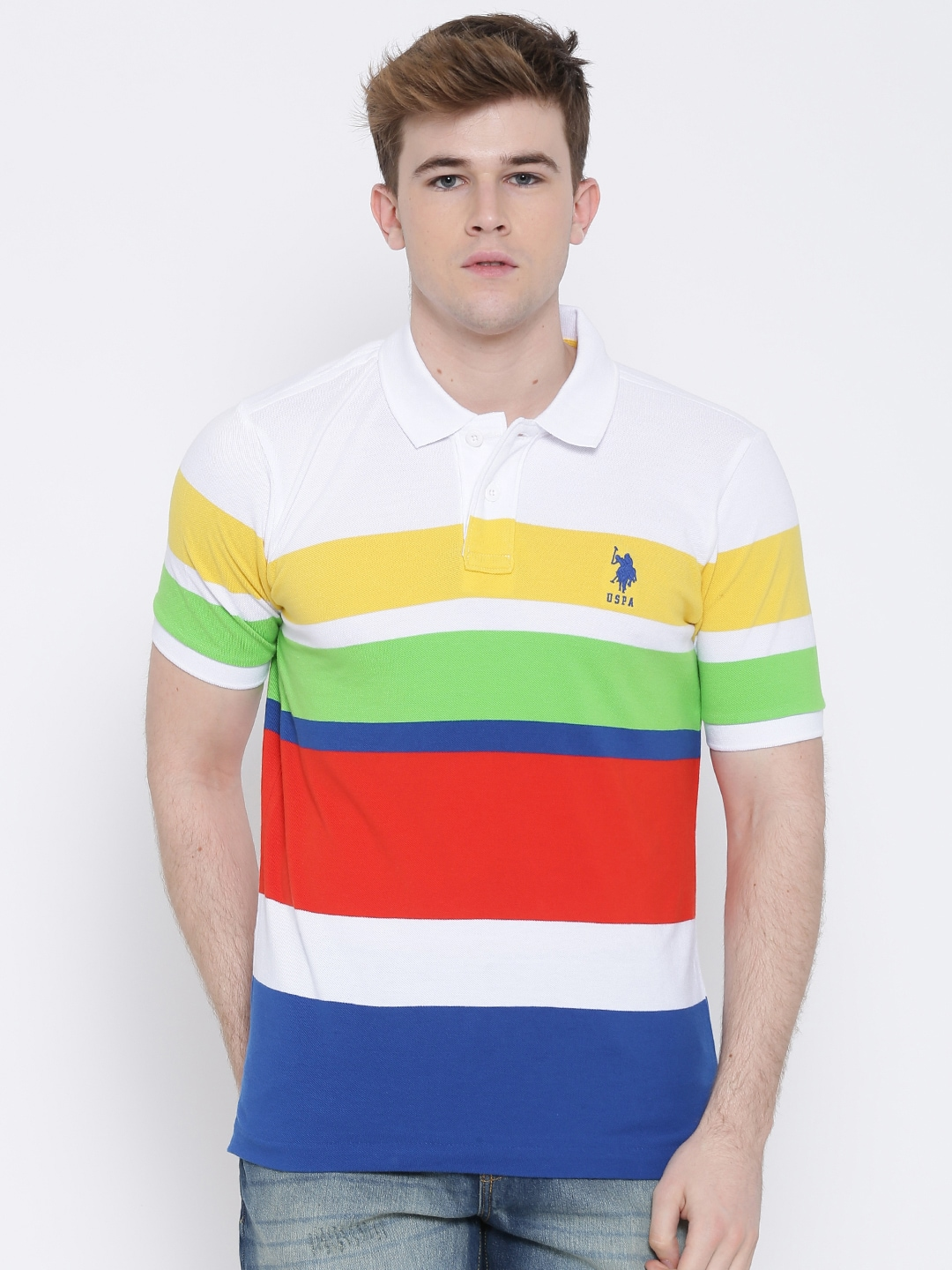 9ab90768 Striped Polo T Shirts Online India - Cotswold Hire
