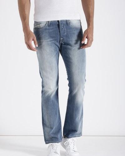 Replay Men Blue Mid-Rise Clean Look Jeans