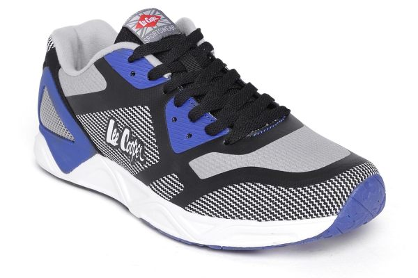 Lee Cooper Men Blue & Grey Striped Sneakers