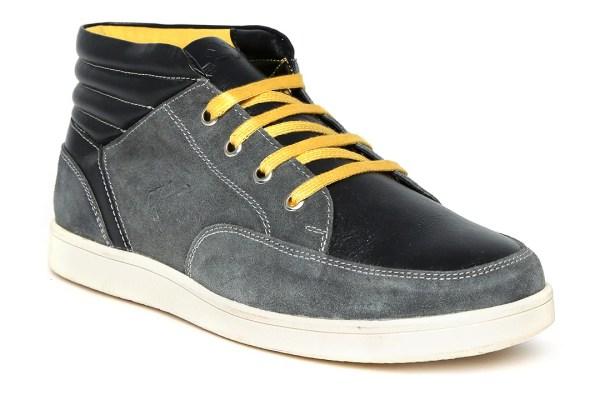 Spunk Men Grey Jump Suede Casual Shoes