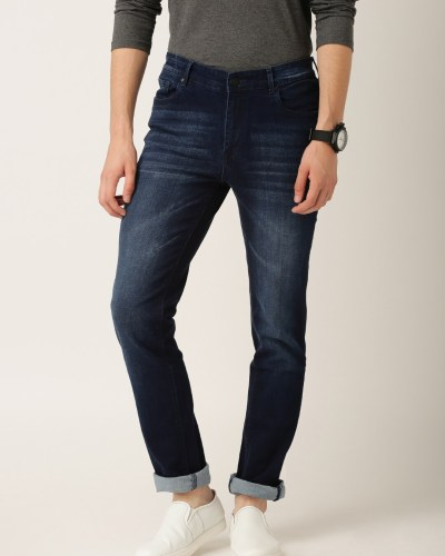 ETHER Blue Washed Skinny Fit Jeans