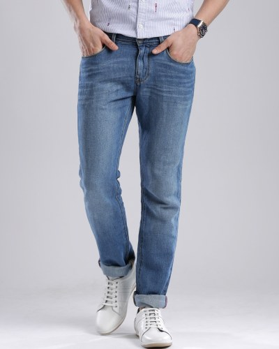 Tommy Hilfiger Blue Washed Denton Straight Fit Jeans