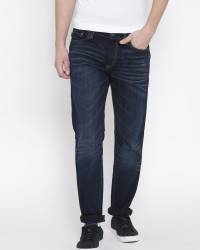 Solly Jeans Co. Men Navy Slim Fit Low Rise Clean Look Jeans